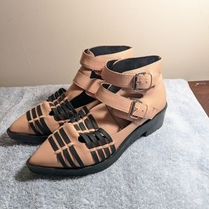 TopShop light pink leather Booties
